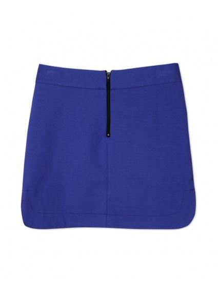 時尚圓弧短裙_寶藍