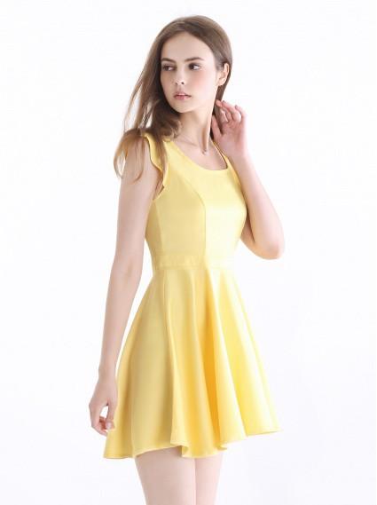 經典顯瘦洋裝-黃