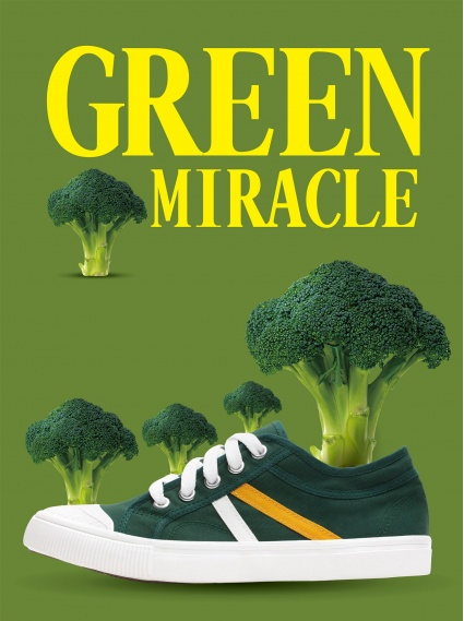 手工帆布鞋(厚底)-綠