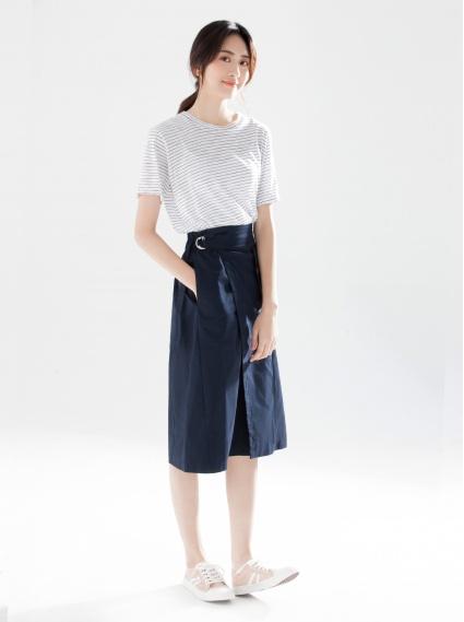小清新綁帶裙-深藍