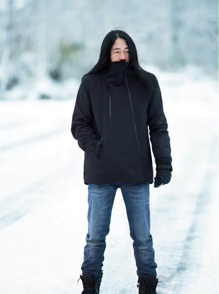 【極地/雪地】男款防水極地高領外套-黑