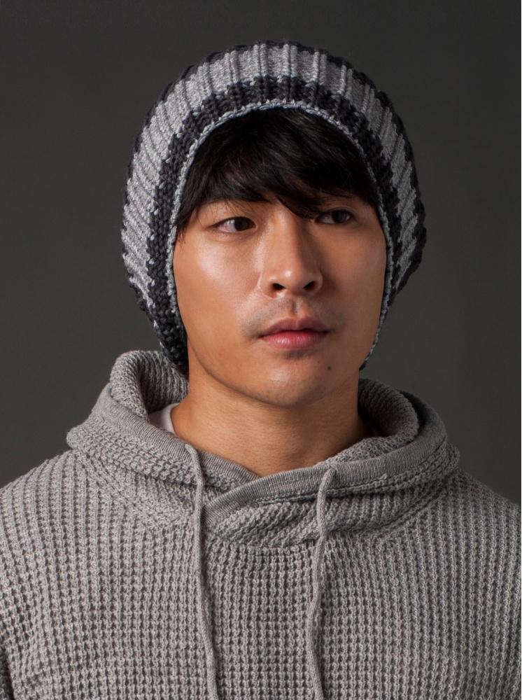 男款寬毛帽-深灰