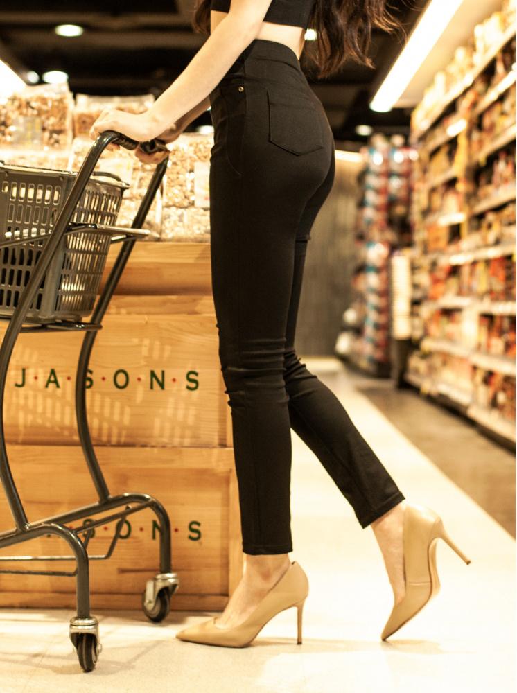 激瘦神蹟褲3.0(中高腰款)-黑